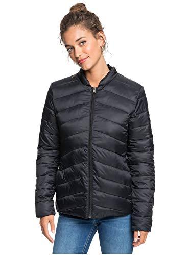 Roxy Damen Wasserabweisende, Leichte, Verpackbare Wattierte Jacke Coast Road - Wasserabweisende, leichte, verpackbare wattierte Jacke für Frauen, anthracite, M, ERJJK03387