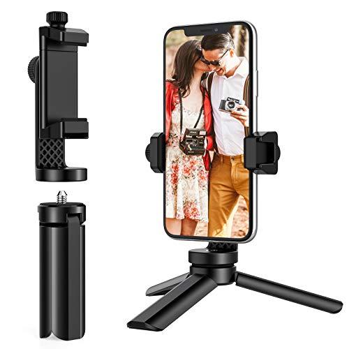 Anozer Mini Tripod, Mini Selfie Stick Stativ mit verstellbarem Handyhalter, Kaltschuhhalterung, 1/4 Zoll Schrauben und Handy Stativ, leichtes Mini Reisestativ für Handys, kleine Kamera und GoPro