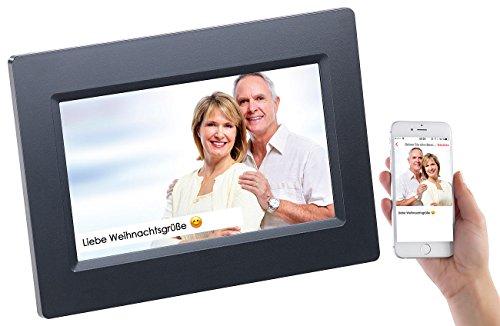 Somikon Digitale Bilderrahmen: WLAN-Bilderrahmen mit 17,8-cm-IPS-Touchscreen & weltweitem Bild-Upload (Digitaler Bilderrahmen mit WLAN)