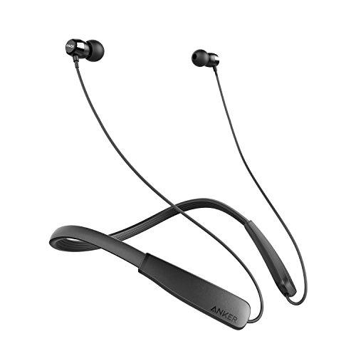 Anker Soundbuds Lite Bluetooth-Kopfhörer, kabellos, leicht, Nackenbügel, IPX5, wasserabweisend, Sport-Ohrhörer mit Geräuschunterdrückung und integriertem Mikrofon (schwarz)