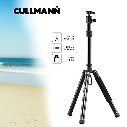 Cullmann Neomax Reisestativ mit geringem Packmaß (28,5 cm), leicht, schwarz