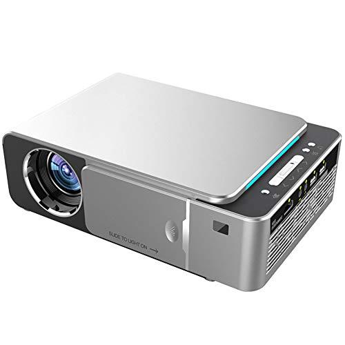 GZP Mini Beamer, Tragbarer LED Video Beamer, Full HD 1080P-Projektor, Kompatibel Mit HDMI/VGA/USB/AV-Eingang, Multiscreen-Einstellung, Geeignet Für Heimkino Und Unterhaltung Im Freien,Silber