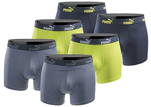 PUMA 6er Pack Boxershort Größe M Herren Basic Black Limited Edition Blue Lime Power