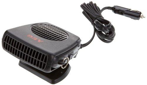 AEG 97201 Scheibenenteiser mit Lüfter, warm / kalt, 150 Watt, mit 12 V Kfz-Anschluss, Standfuss und Haltegriff