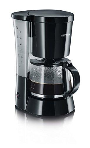 SEVERIN Kaffeemaschine, Für gemahlenen Filterkaffee, 10 Tassen, Inkl. Glaskanne, KA 4479, Schwarz