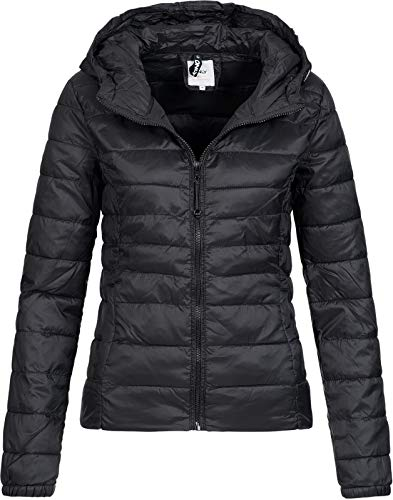 ONLY Damen Übergangs Steppjacke Tahoe Hood (18) Kapuze 15156569 Black L