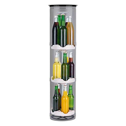 EASYmaxx Flaschenkühler Outdoor   Der stromlose Kühlschrank für den Garten   Für Bier und andere Getränke, 3 Stellflächen für bis zu 15 Flaschen, speziell isolierter Deckel