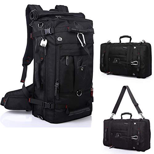 Pulchram 60L wassertichte Trekkingrucksacke, Reiserucksack Wanderrucksack mit Innengestell und Schloss, Multifunktionstasche als Trekkingrucksack oder Business-Tasche auch Laptop-Tasche