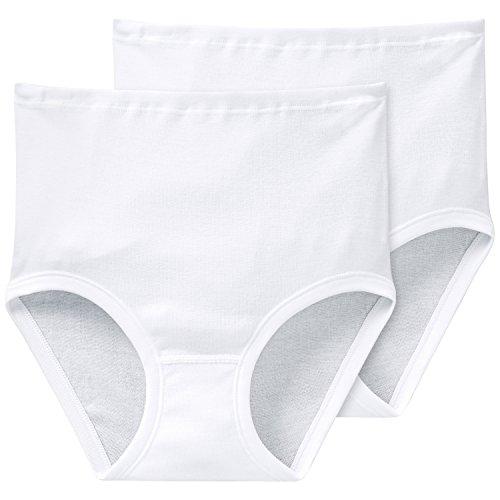Schiesser Damen Starlet Taillenslip (2 Pack) Taillenslips, Weiß (100-weiss), 46 (2er Pack)