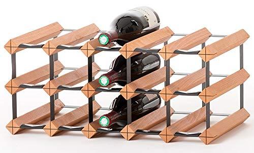RAXI ™ Classic Premium Weinregal aus Holz mit luxuriösem Design/Flaschenregal für 15x Wein Flaschen