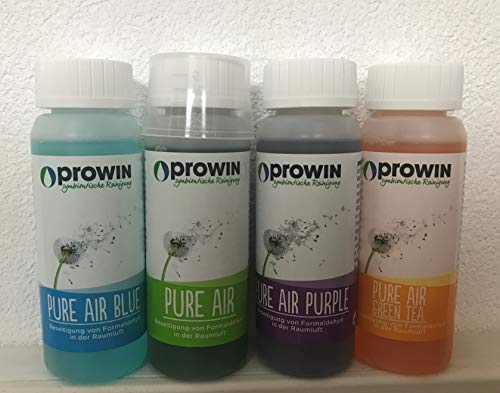 proWIN PURE AIR 4 er Set je 100 ml & Air PUMP Flasche