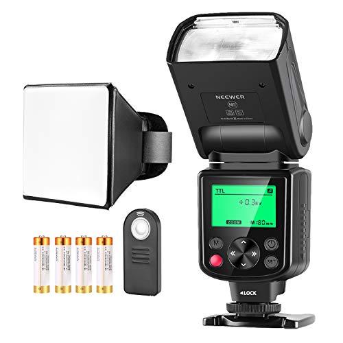 Neewer NW635 TTL GN58 Blitzkit Kompatibel mit Sony MI Blitzschuh Kameras A9II A9 A7RIV/III/II A7III/II A7SII A6600 A6500 A6400 A6300 A6000 A99II A77II RX10II/III/IV, Diffusor/Akku enthalten