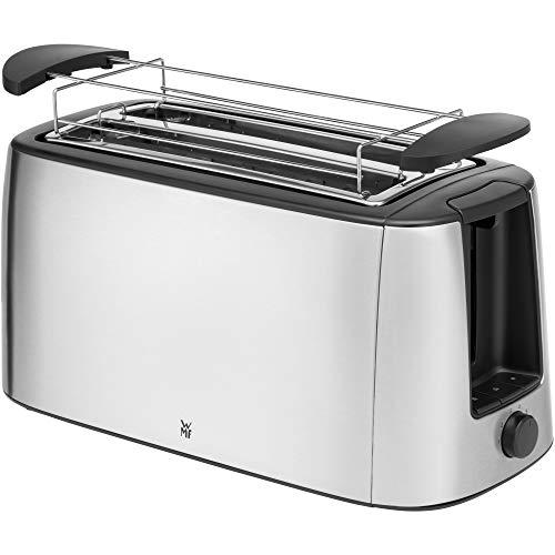 WMF Bueno Pro Toaster Langschlitz mit Brötchenaufsatz, 4 Scheiben, XXL Toast, Aufknusper-Funktion, 6 Bräunungsstufen, 1550W, Toaster edelstahl matt