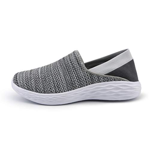 Generic Damen Lightweight Trainer Breathable Mesh Sport Laufschuhe Slip On Casual Flat Loafers Sommer Outdoor Jogging Fitness Sneakers