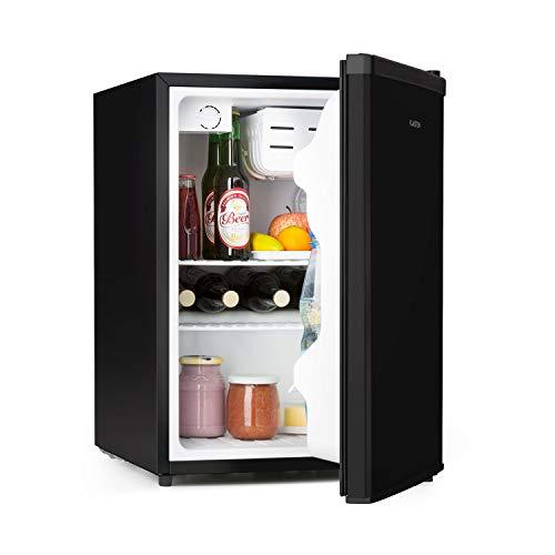 Klarstein Cool Kid Kühlschrank, Mini-Kühlschrank im CompactCooling Design, Fassungsvermögen: 66 Liter, 2 Ebenen, Kältefach: 4 Liter, Flaschenfach bis 2 Liter, schwarz