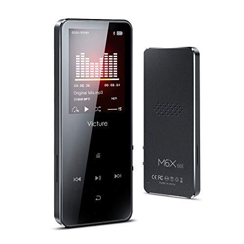 Victure MP3 Player 16GB Bluetooth mit Lautsprecher MP3 Player Kinder mit Kopfhörer FM Radio Voice Recorder, Sport Armband, Speicher Erweiterbar bis 128GB