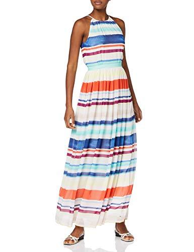 Tommy Hilfiger Damen Plissee Kleid, AGATHA CHIFFON MAXI DRESS Maxi , Gr. 34 (Herstellergröße: 4), Mehrfarbig (LEE STP 152)