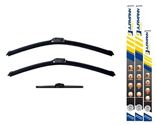 Jurmann® Vision+ Aero Scheibenwischer 530/475 + 325 mm Komplettsatz Vorne + Hinten Wischblatt Satz Golf IV [1J1] Bj 06.02-06.05