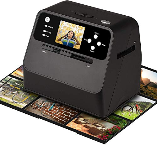 Diascanner Hochauflösender 135mm Filmscanner konvertiert Negativ Dia & Film zu Digital Photo mit 14-MP-Sensor