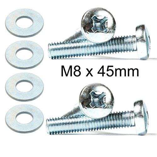 4x Kreuzschlitzschrauben-Bolzen für Samsung TV Wandhalterung M8x 45mm + Unterlegscheiben