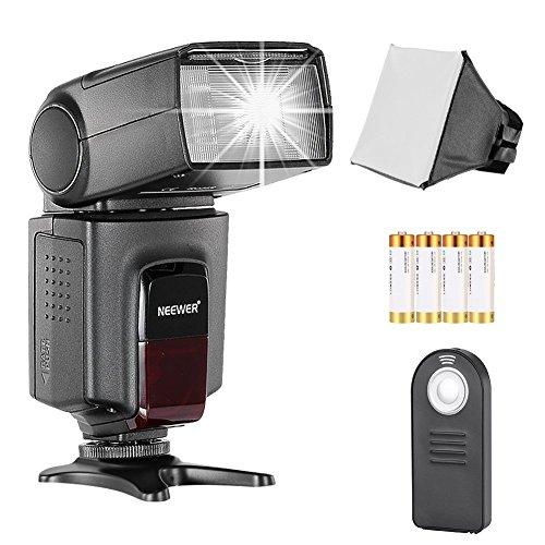 Neewer TT560 Flash Speedlite Blitzgerät Set für Canon Nikon Sony Pentax DSLR Kamera mit einem Standard Blitzschuh, Inkl.1xTT560 Blitzgerät,1xSoft Diffusor,1xFernbedienung,4xBatterien
