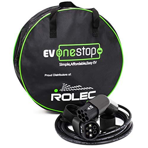 EV/Elektrofahrzeug - Ladekabel | Typ 2 - Typ 2 | 3 Phase | 32 Ampere (22 kW) | 10 Meter | Kostenlose Tragetasche |