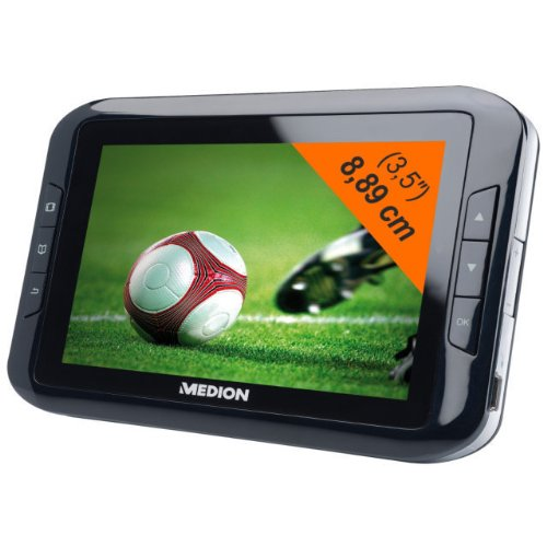 Medion MD 83544 tragbarer Design-Fernseher mit integrierter Lautsprecher (8,9 cm (3,5 Zoll) LCD-Display, 320 x 240 Pixel, DVB-T Tuner)