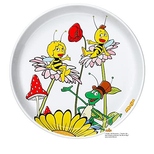 WMF Biene Maja Kindergeschirr Kinderteller 19 cm, Porzellan, spülmaschinengeeignet, farb- und lebensmittelecht