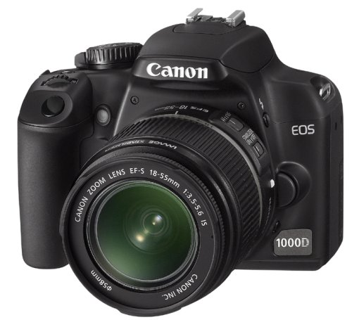 Canon EOS 1000D SLR-Digitalkamera (10 MP, Live-View, Kit inkl. EF-S 18-55mm IS)