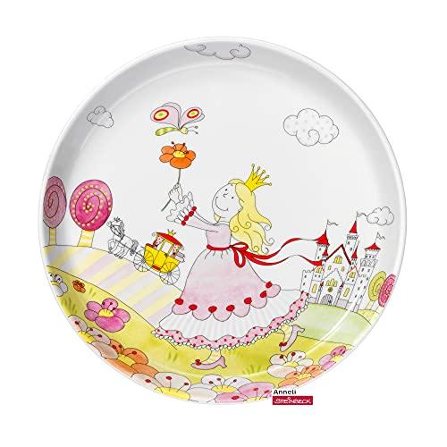 WMF Prinzessin Anneli Kindergeschirr Kinderteller 19 cm, Porzellan, spülmaschinengeeignet, farb- und lebensmittelecht