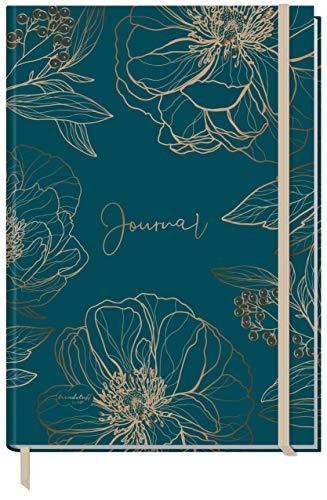 Bullet Journal dotted A4+ mit Gummiband [Goldblüte] 156 Seiten | Notizbuch gepunktet, Skizzenbuch, Tagebuch von Trendstuff by Häfft | nachhaltig & klimaneutral