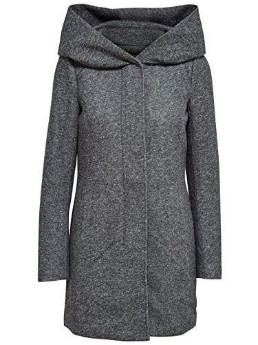 ONLY Damen Kurzmantel Übergangsmantel (XL, Dark Grey Melange)