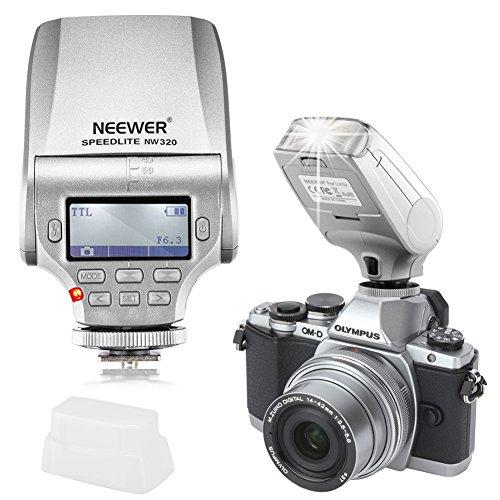 Neewer® NW 320 TTL LCD Bildschirm LED-Assistent Vorschau Fokus Beleuchtung Speedlite für Panasonic Lumix DMC GF7 GM5 GH4 GM1 GX7 G6 GF6 GH3 G5 GF5 GX1 GF3 G3, Olympus OM-D E-M5 II E-M10 E-M1 PEN E-PL7 E-P5 E-PL6 E-PL5 E-PM2 E-P3 E-PL3