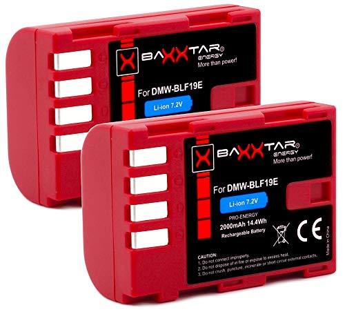 2X Baxxtar Pro Akku für Panasonic DMW BLF19 E mit Infochip - Für Panasonic Lumix DC G9 GH5 GH5s DMC GH3 GH4 GH4R - Sigma BP-61 usw.