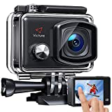 Victure AC900 Action Cam 4K WiFi 20MP Touchscreen 30M EIS Ultra Full HD Wasserdicht 170 ° Weitwinkel Verstellbar 8 Image-Effekt und Zubehör-Kits