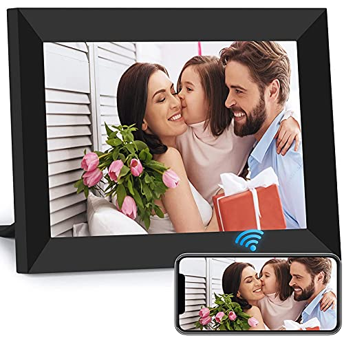 GAOword 15-Zoll-WLAN-Digital-Fotorahmen-IPS-Touchscreen kann sofort Momente über Mobile App teilen, automatisch drehen, USB- und SD-Karten unterstützen
