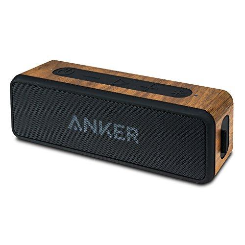 balolo® Walnuss Echtholz Cover für Anker SoundCore 2 Bluetooth Lautsprecher   Hülle Zubehör Skin Schutz Case   100% Handmade in Germany   100% amerikanisches Walnuss-Holz