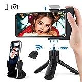 Yoozon Selfie Mini Handy/Kamera Stativ & Multi Selfie Handy Halterung Ständer mit Fernauslöser für SLR-Kamerafunktion,Handyhalter fotographieren für Kamera und Allen 3.5-6.7' iPhone Android Smartphone