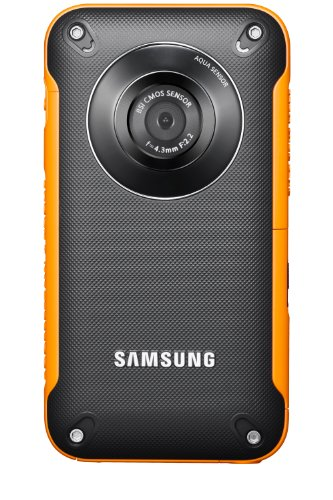 Samsung HMX-W300YP/EDC Camcorder (5,5 Megapixel, 3-fach opt. Zoom, 5,8 cm (2,3 Zoll) Display, 29,6mm Weitwinkel, bildstabilisiert) orange