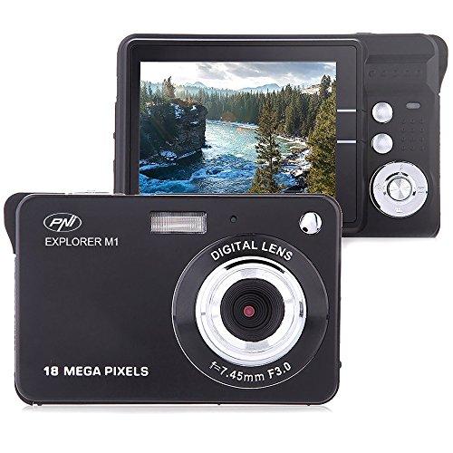 Digitalkamera PNI Explorer M1, 18 MP, 720 P HD, 2,7 Zoll LCD Display, 8 facher Digitalzoom, Gesichtserkennung