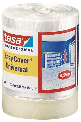 Tesa Easy Cover 4368 Premium Malerkrepp (mit Abdeckfolie 33 m:550 mm) 04368-00012-03