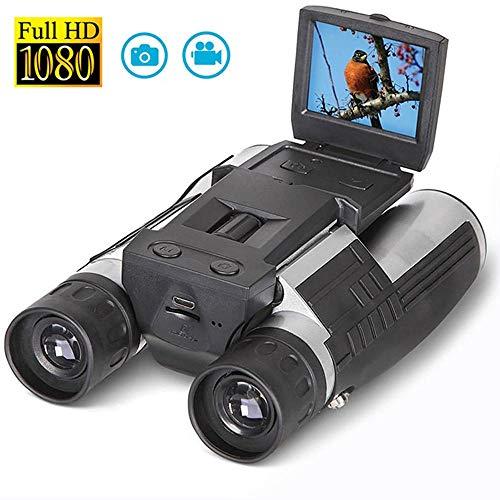 Womdee Digitalkamera Fernglas, 2 Zoll LCD Display, 1080P, 12 Fache Vergrößerung, Foto und Videoaufzeichnung, Digitales USB Fernglas mit Kamera für Vogelbeobachtung, Sportspiele im Freien, Konzerte