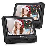 NAVISKAUTO 9' DVD Player für Auto Tragbarer DVD Player mit zusätzlichem Bildschirm 5 Stdn. Akku SD/USB AV IN/Out