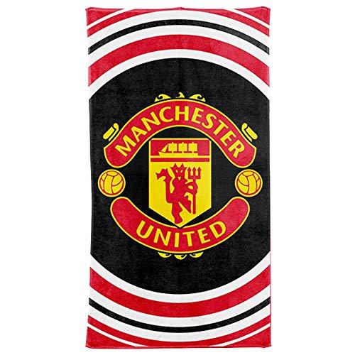 Mufc offizielles Manchester United-Strandtuch, 100 % Baumwolle, 70 x 140 cm