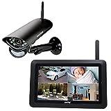Switel HS2000 Drahtloses digitales HD-Videoüberwachungssystem, Außenkamera, großer Touch-Screen, Videoaufzeichnung, Alarmfunktion, Nachtsicht