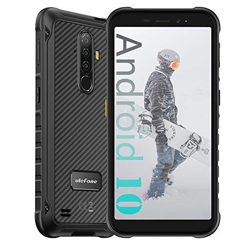 Ulefone Armor X8 (2020) 4G Smartphone ohne Vertrag, 4GB RAM + 64GB ROM, 13MP + 8MP Kamera, 5,7-Zoll-FHD+, Android 10 IP68 Outdoor Handy Mobile Phones, 5080 mAh, NFC Unterwassermodus Schwarz