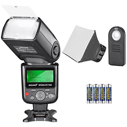 Neewer 750II TTL Speedlite Blitz Kit für Nikon mit IR Drahtlose Fernbedienung, AA Batterie, Diffusor für Nikon DSLR
