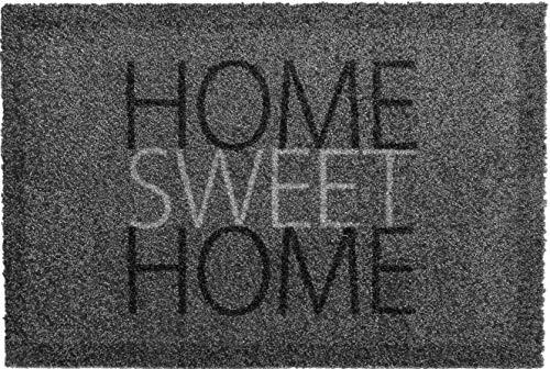 oKu-Tex Fußmatte | Schmutzfangmatte | 'Deco-Soft Entrance'| Home-Sweet-Home | Aufdruck | für innen | Eingangsbereich / Haustür / Treppenhaus | rutschfest | 40x60 cm