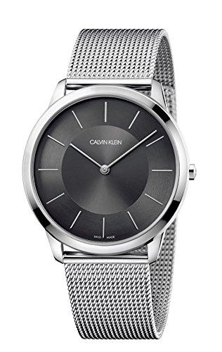 Calvin Klein Herren Analog Quarz Uhr mit Edelstahl Armband K3M2T124