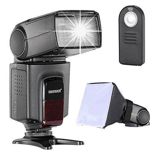 Neewer TT560 Speedlite Blitz Kit für Canon Nikon Sony Pentax DSLR Kamera mit Standard-Blitzschuh, beinhaltet: (1) TT560 Blitz + (1) Blitz Diffusor + (1) Fernbedienung